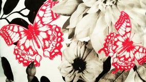 Fjärilar och blom- bakgrund Royaltyfria Bilder