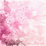 Fjärilar och orkidéblommor