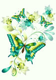 fjärilar planlägger den eleganta vektorn Stock Illustrationer