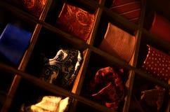 Fjärilar, slipsar och scarves för män och kvinnor arkivfoto