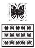 fjärilar smyckar stylized vektor illustrationer