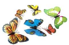 Fjärilar som isoleras på vit med mjuk skugga under varje arkivbilder