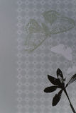 fjärilen blommar den paper scrapbooken Royaltyfri Foto