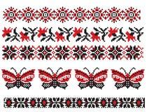 fjärilen broderar ukrainare Royaltyfria Bilder