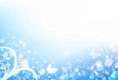 Fjärilen och sidor sprider med den nya bubblaluft och stjärnan för suddighet vektor illustrationer