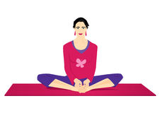 fjärilen poserar yoga stock illustrationer