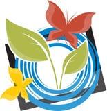 Fjärils- och Leavesdesign Royaltyfria Bilder