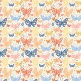 Fjärilsbakgrund Vektor Illustrationer