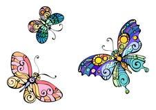 fjärilsbild Arkivfoton
