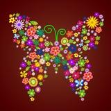fjärilsblommafjäder royaltyfri illustrationer