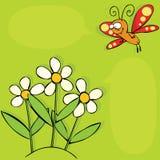 fjärilsblommor Royaltyfri Foto