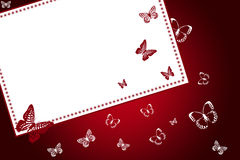 fjärilsbokstav Arkivfoto