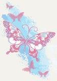 Fjärilsborsteslaglängd. vektor illustrationer