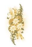 fjärilsdesignblomma stock illustrationer