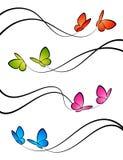 fjärilsdesignelement Arkivbild