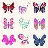 fjärilsdesigner Arkivfoton