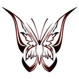 fjärilsdesigntatuering Arkivbilder