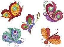 fjärilsfärg stock illustrationer