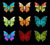 fjärilsfärgpalett Arkivfoto
