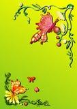 fjärilsfjäder stock illustrationer