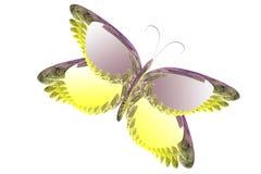 fjärilsfractalillustration stock illustrationer