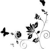 fjärilsgarneringsilhouette Royaltyfri Foto