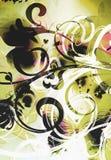 fjärilsgrafittiscroll Royaltyfri Bild