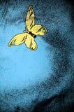 fjärilsgrungefläck Royaltyfria Bilder