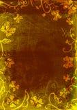 fjärilsgrungesida royaltyfri illustrationer