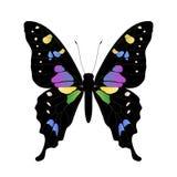 fjärilsillustration min portfölj till vektorvälkomnandet Arkivbild