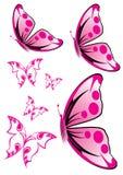 fjärilsillustrationpink Royaltyfri Fotografi