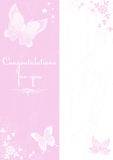 fjärilskort royaltyfri foto