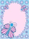 fjärilskortblommor Royaltyfri Fotografi