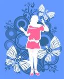 fjärilskvinna stock illustrationer