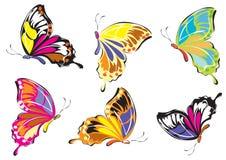 fjärilslogo vektor illustrationer