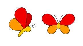 fjärilslogo Arkivfoto