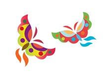 fjärilslogovektor vektor illustrationer