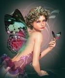 fjärilsmeet royaltyfri illustrationer
