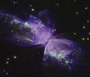 Fjärilsnebulosa med en fjäril Fotografering för Bildbyråer