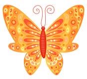 fjärilsorange Arkivfoto