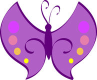 fjärilspurple Royaltyfria Bilder
