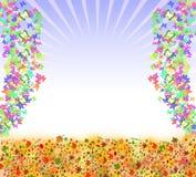 Fjärilsrambakgrund Arkivfoton