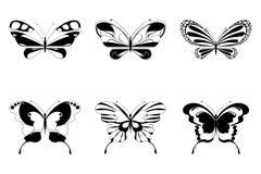 fjärilsset stock illustrationer
