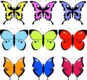 fjärilsset vektor illustrationer