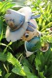 Fjärilsstoppare Tin Man Garden Ornament Fotografering för Bildbyråer