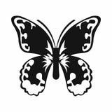 Fjärilssymbol, enkel stil Arkivfoton