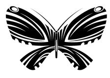 fjärilstatuering Arkivfoton