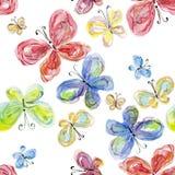 fjärilsvattenfärg Arkivfoto