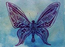 fjärilsvattenfärg Royaltyfri Foto