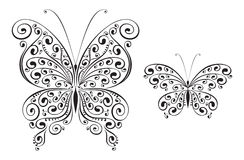 fjärilsvektor arkivfoto